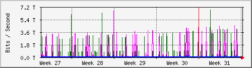 SAIX monthly traffic statistics